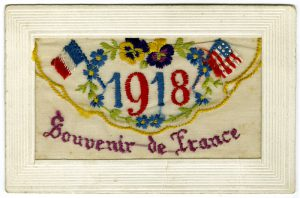 wwi silks 1 2 1 300x198 - WW1 embroidered greetings card