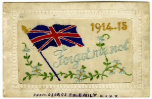 wwi silks 2 2 1 300x195 - WW1 embroidered greetings card