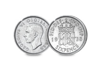 King George VI Silver Sixpence
