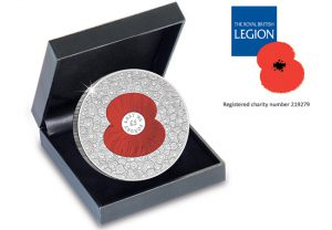 100 poppies coin in box 1 300x208 - 100 Poppies Coin £5 Proof Coin