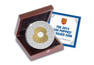 "silver proof poppy coin 1 300x208 - The ""100 Poppies"" £5 Silver Proof Coin"