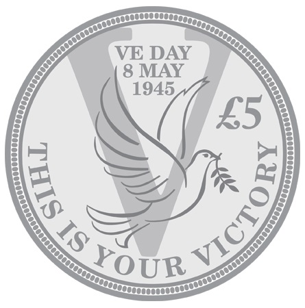 st ve day coin web image 1 - 2015 VE Day Anniversary Dove Coin