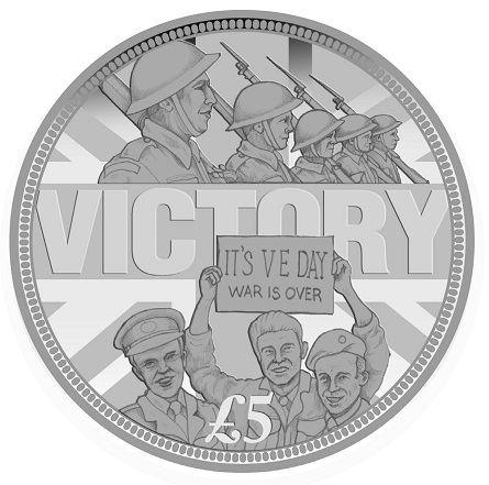 ve day coin new concepts 1 1 - 2015 VE Day Anniversary Victory Coin