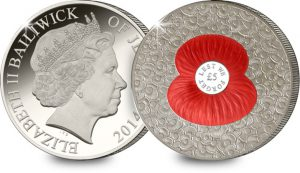 the 2014 100 poppies 5 pound coin 1 300x173 - The 2014 100 Poppies 5 Pound Coin