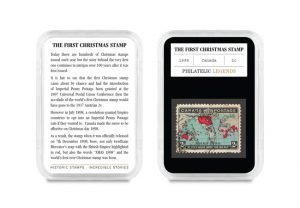philatelic legends canadas first xmas stamp in case 1 300x208 - Philatelic Legends Canada's First Xmas Stamp in Case