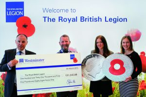 rbl cheque presentation v3 e1429186207317 1 300x200 - The Westminster Collection Present a Cheque for £113,000 to the Royal British Legion