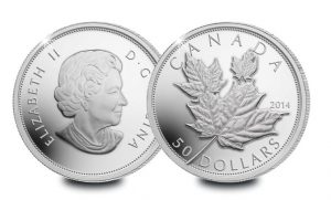 canada 5oz silver proof high relief maple leaf 1 300x181 - Canada 5oz Silver Proof High-Relief Maple Leaf