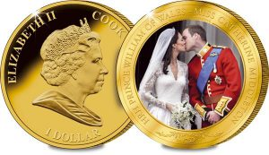 wills and kate wedding coin 1 300x173 - William and Kate Royal Wedding