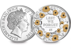 103p 2015 remembrance day 5 proof poppy coin cuni coin 1 300x208 - 2015 Remembrance Day 5 proof poppy coin CuNi coin