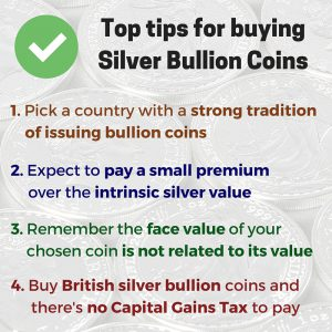pick a country with a strong tradition of issuing bullion coinsexpect to pay a small premium over the intrinsic silver valueremember the face value of your chosen coin is pretty much irr 1 300x300 - Top tips for buying silver bullion coins