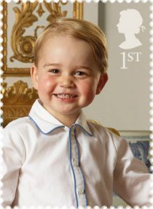 george 1 220x300 - Prince George on the NEW GB 1st Class Stamp