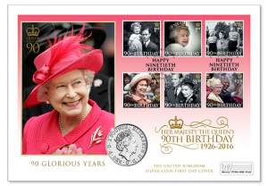 qeii 90th birthday silver coin pnc 1 300x208 - QEII 90th Birthday Silver Coin PNC