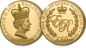st queens 90th guernsey c2a350 10oz gold coin both sides 1 300x167 - Queen's 90th Guernsey £50 10oz Gold Coin (Both Sides)