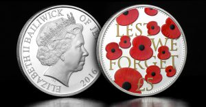 "st rbl 2016 poppy cuni proof coin blog image 1 300x157 - The Official 2016 ""Lest We Forget"" £5 Poppy Coin"