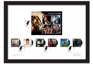 bowie framed stamps 300x208 - David Bowie Framed Royal Mail Stamps