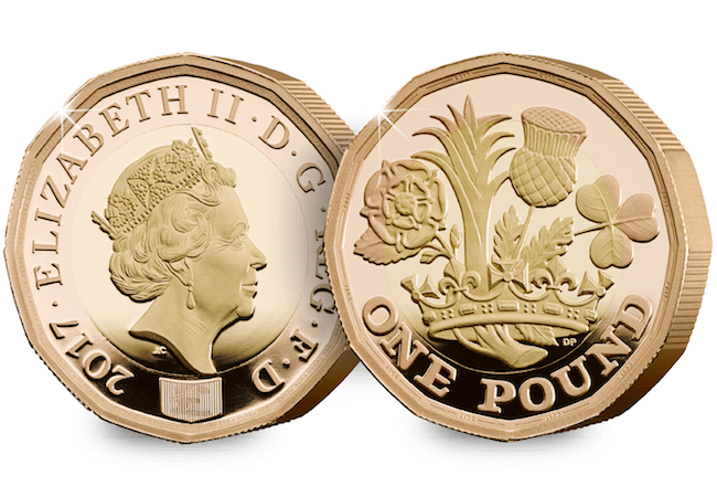 The Nations of The Crown 12-Sided £1 Coin 22 Carat Gold Proof Edition
