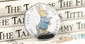 st 2017 peter rabbit silver proof 50p coin facebook banner2 300x157 - The NEW 2017 Peter Rabbit Silver Proof 50p