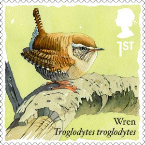wren stamp 300x300 - The New Royal Mail Wren Stmap - part of the Songbirds Series