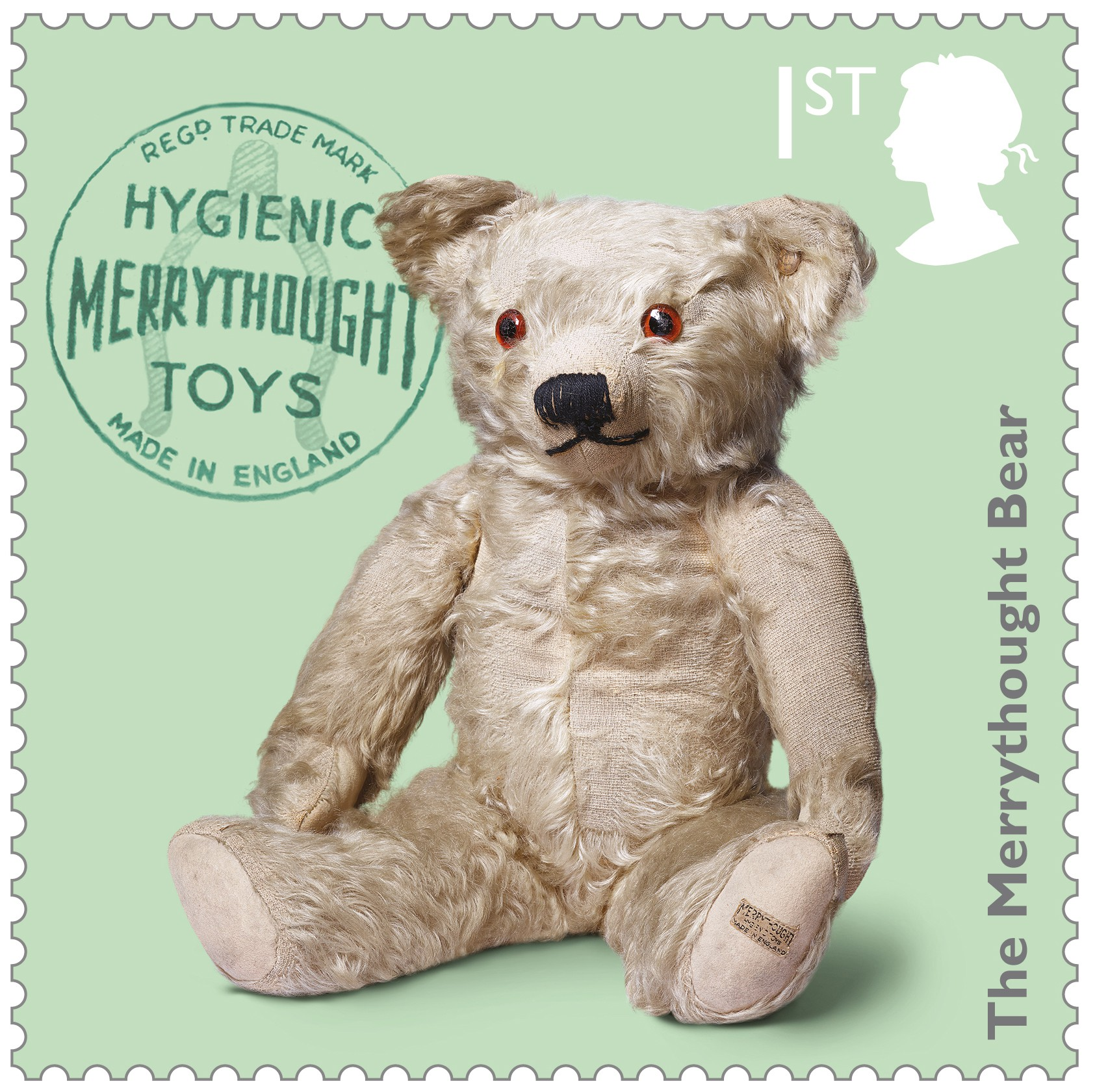 the merrythought bear stamp