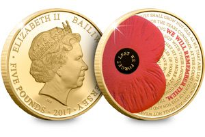 2017 remembrance poppy c2a35 gold plated proof coin 300x200 - 2017-Remembrance-Poppy-£5-Gold-Plated-Proof-Coin