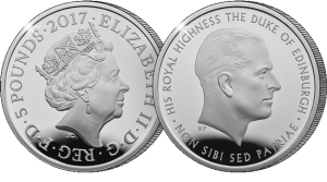 prince philip life of service 2017 uk c2a35 silver proof1 300x167 - Prince-Philip-life-of-service-2017-UK-£5-Silver-Proof