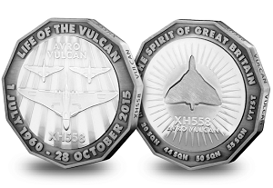 avro vulcan4 300x207 - The-Avro-Vulcan-XH558-Commemorative-Silver-Plated-Medal