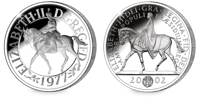 1977 2002 crown coins - New United Kingdom £5 coin released to celebrate the Queen's 70th Wedding Anniversary