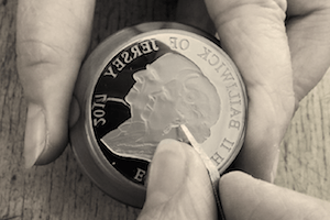 coin engraving image 300x200 300x200 - Platinum-Wedding-Coin-Die-Engraving