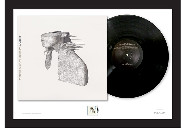Coldplay Full Mock Up - The Framed Presentations celebrating the UK's Music Giants – selling so fast they've gone Platinum!