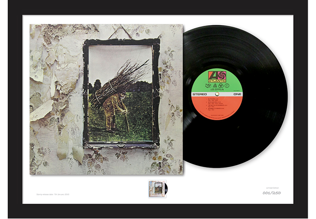 Led Zep IV Full Mock Up - The Framed Presentations celebrating the UK's Music Giants – selling so fast they've gone Platinum!