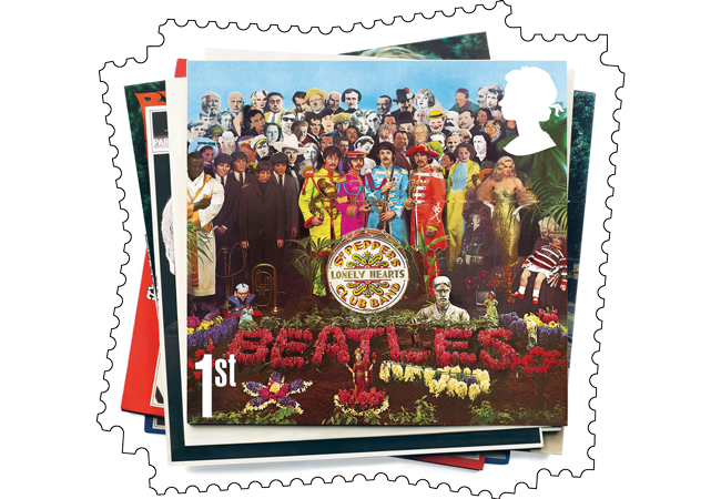 Sgt Pepper Stamp - The Framed Presentations celebrating the UK's Music Giants – selling so fast they've gone Platinum!