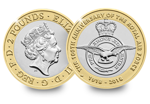 2018 UK 2 pounds RAF bu coin 300x208 - Revealed: The Royal Mint UK commemorative coin designs for 2018
