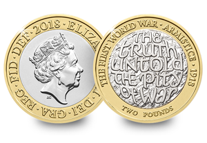 2018 UK 2 pounds first world war BU coin 300x208 - Revealed: The Royal Mint UK commemorative coin designs for 2018