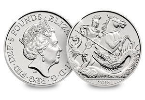 2018 UK 5 pounds prince george bu coin 300x208 - Revealed: The Royal Mint UK commemorative coin designs for 2018