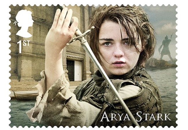 Arya Stark - FIRST LOOK: World's first ever Game of Thrones Stamps just revealed