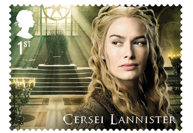 Cersei Lannister - FIRST LOOK: World's first ever Game of Thrones Stamps just revealed