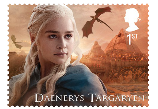 Daenerys Targaryen - FIRST LOOK: World's first ever Game of Thrones Stamps just revealed