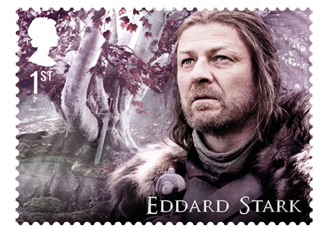 Eddard Stark - FIRST LOOK: World's first ever Game of Thrones Stamps just revealed