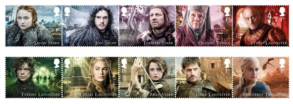 GoT stamps 100 se tennant 1024x364 - FIRST LOOK: World's first ever Game of Thrones Stamps just revealed