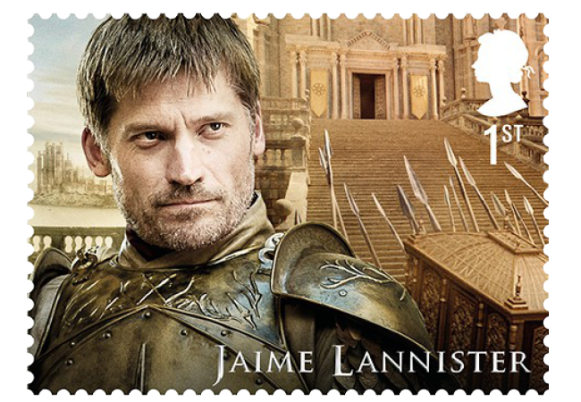 Jaime Lannister - FIRST LOOK: World's first ever Game of Thrones Stamps just revealed