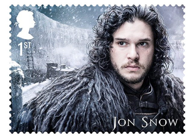 Jon Snow - FIRST LOOK: World's first ever Game of Thrones Stamps just revealed