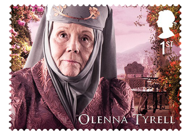 Olenna Tyrell - FIRST LOOK: World's first ever Game of Thrones Stamps just revealed