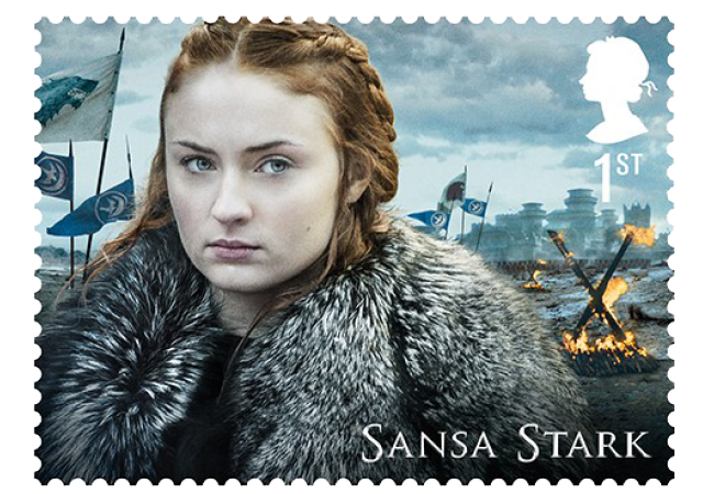 Sansa Stark - FIRST LOOK: World's first ever Game of Thrones Stamps just revealed