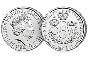 Four Generations of Royalty BU Coin obverse reverse 300x200 - New UK coin released celebrating the Four Generations of Royalty for first time ever