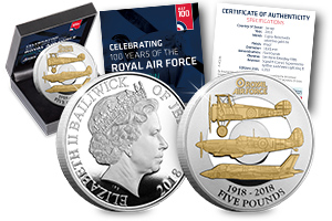 RAF 100th Jersey Five Pound Proof Coin - Just released: The Official RAF Centenary Coin and the story behind the design…