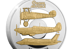 RAF Five Pound Proof Coin Close Up - Just released: The Official RAF Centenary Coin and the story behind the design…