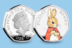 Beatrix Potter 2017 Silver Proof 50p Peter Rabbit blog images 1 1 - Meet the FOUR new 2018 Beatrix Potter 50p coins...