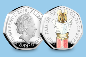Beatrix Potter 2017 Silver Proof 50p Peter Rabbit blog images 2 1 - Meet the FOUR new 2018 Beatrix Potter 50p coins...