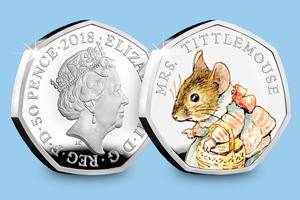 Beatrix Potter 2017 Silver Proof 50p Peter Rabbit blog images 4 1 - Meet the FOUR new 2018 Beatrix Potter 50p coins...