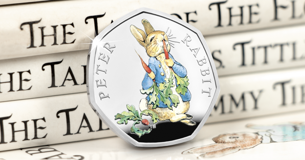 Beatrix Potter 2017 Silver Proof 50p Peter Rabbit facebook 1200px 2 1024x536 - Meet the FOUR new 2018 Beatrix Potter 50p coins...